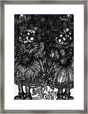 Twin Girls Framed Print by Akiko Okabe