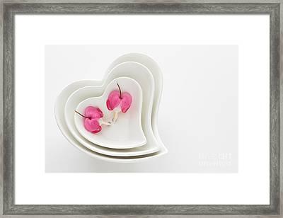 Twin Hearts Framed Print