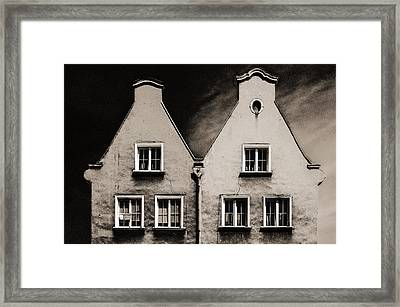 Twin Houses Framed Print by Arkady Kunysz
