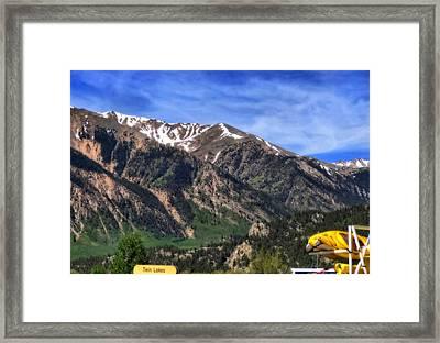 Twin Lakes Colorado Framed Print