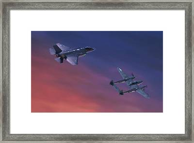 Twin Lightnings Framed Print by Hangar B Productions