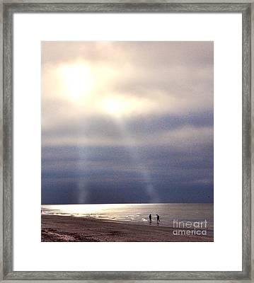 Twin Lights Framed Print