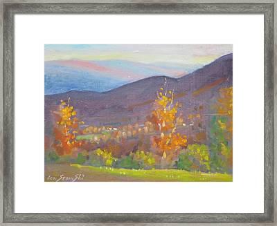 Twin Maples Framed Print by Len Stomski