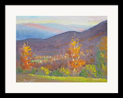 Sunlite And Mountains Framed Prints