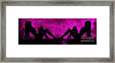 Twin Nude Silhouette Framed Print by Kendree Miller