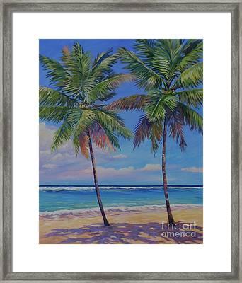Twin Palms Framed Print