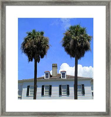 Twin Palms South Battery Framed Print by Randall Weidner