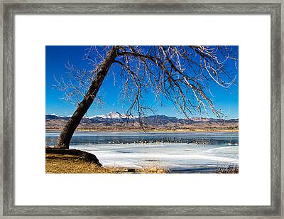 Twin Peaks Blue Framed Print by James BO  Insogna