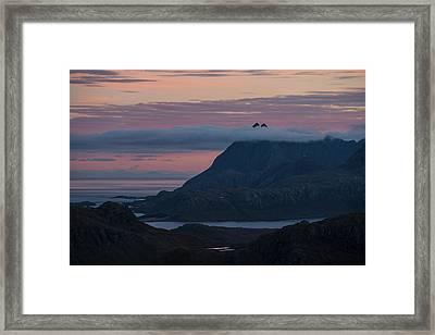 Twin Peaks Of Solbjorntind Framed Print