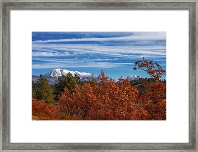 Twin Peaks Framed Print by Sean Ramsey