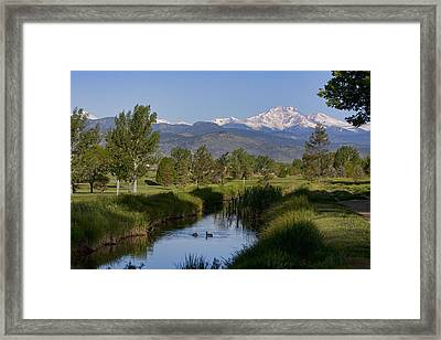 Twin Peaks View Framed Print by James BO  Insogna