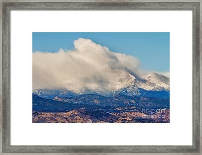 Twin Peaks Winter Weather View  Framed Print by James BO  Insogna
