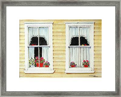 Twin Peeks Framed Print