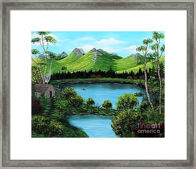 Twin Ponds Framed Print