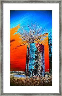 Twin Silos Framed Print