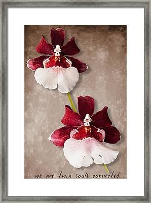 Twin Souls Valentine 1 Framed Print by Weston Westmoreland