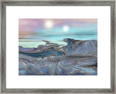Twin Suns Framed Print