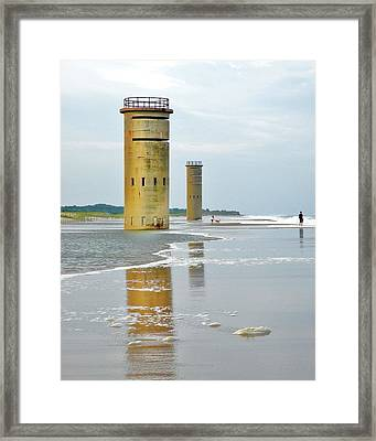 Twin Towers At Whiskey Beach Framed Print