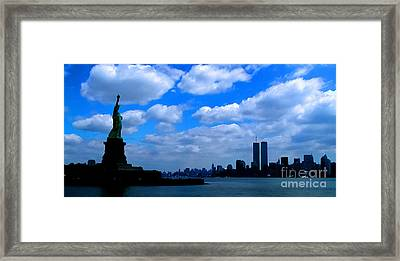 Twin Towers In Heaven's Sky - Remembering 9/11 Framed Print