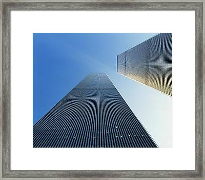 Twin Towers Framed Print by Jon Neidert