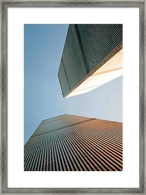 Twin Towers  Framed Print by Patricia Januszkiewicz