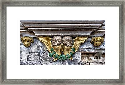 Twin Winged Skull With Laurel Detail - Southwark Cathedral - London - England Framed Print