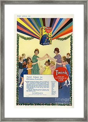 Twink 1923 1920s Uk Cc Lux Washing Framed Print by The Advertising Archives