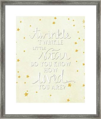 Twinkle Little Framed Print by Amy Cummings