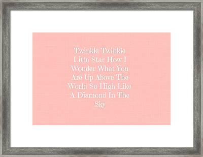 Twinkle Twinkle Framed Print by Chastity Hoff