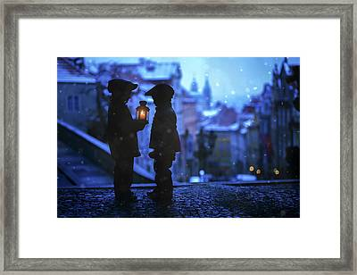Twinkle Twinkle Little Flame Framed Print