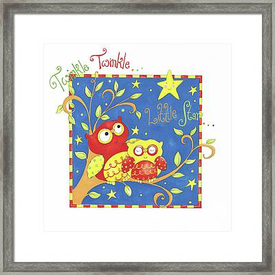 Twinkle Twinkle Little Star Framed Print by P.s. Art Studios