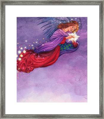 Twinkling Angel Framed Print
