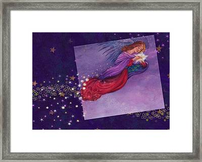 twinkling Angel with star Framed Print