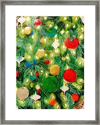 Twinkling Christmas Tree Framed Print by Renee Michelle Wenker