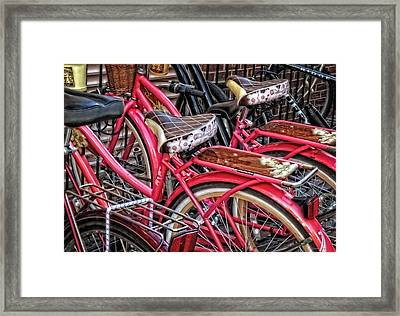 Twins - Bicycle Art By Sharon Cummings Framed Print by Sharon Cummings