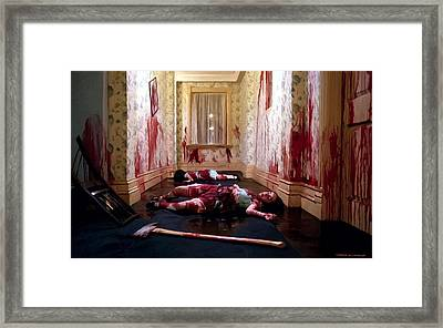 Twins Murdered @ The Shining Framed Print