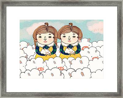 Twins Framed Print by Yoyo Zhao