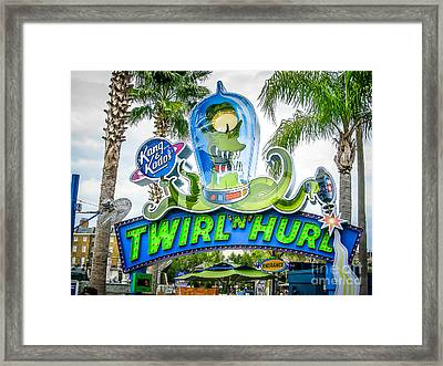 Twirl Ride Framed Print by Perry Webster