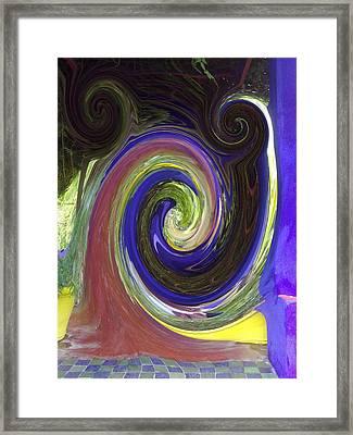 Twirl Framed Print by Soumya Bouchachi
