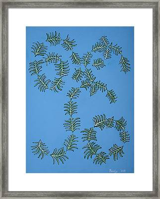 Twirling Leafs Framed Print by Brady Harness