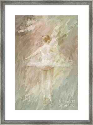 Framed Print featuring the painting Twirling by Linda Blair