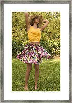 Framed Print featuring the photograph Twirling Woman by Bob Pardue