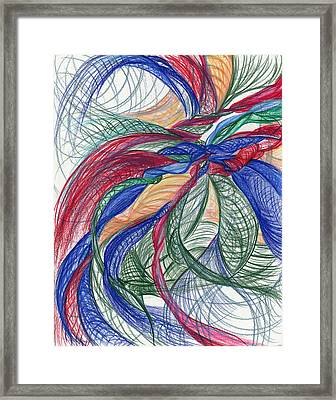 Twirls And Cloth Framed Print
