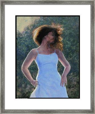 Twirly Girl Framed Print by Diana Moses Botkin