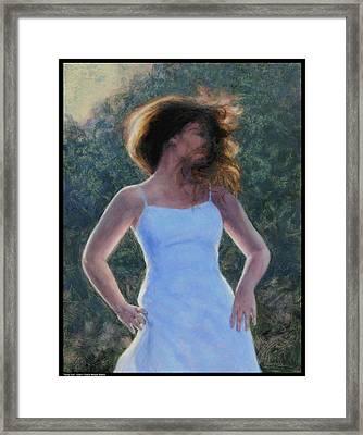 Twirly Girl Framed Print
