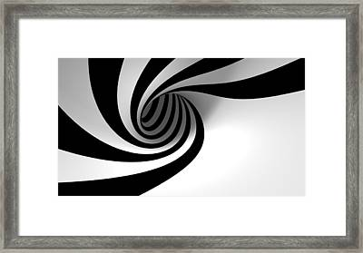 Twirly Shapes Framed Print