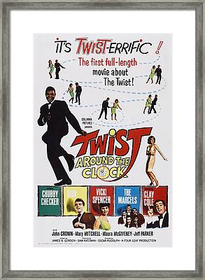 Twist Around The Clock, Us Poster Art Framed Print