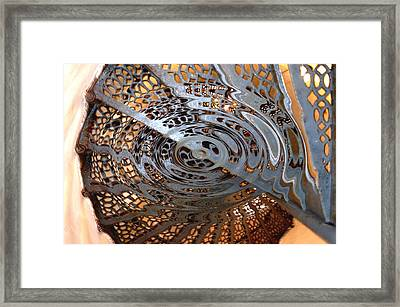 Twist Of Steel Framed Print