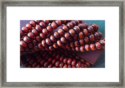 Twisted Beads Framed Print by Catherine Ratliff