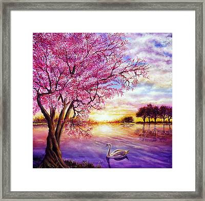 Twisted Blossom Framed Print